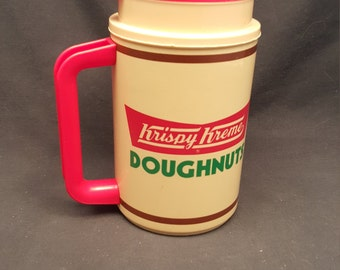 Vintage Krispy Kreme Doughnuts Travel Coffee Mug Thermos 22 oz Thermo Hot Cold