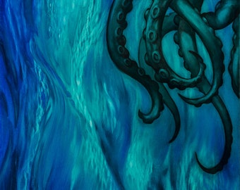 Cthulhu Dreaming in (Blue, Purple, or Green)