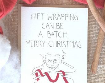 Funny Christmas Card, ADULT CHRISTMAS CARD, Funny Holidays Card, Christmas Friend Card, Edward Scissorhands, Merry Chrimstas Card, Snarky