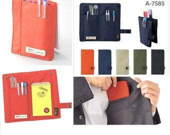 "Lihit Lab Smart Fit Slim Foldable Pen Case, 7.5"" x 4.3"""