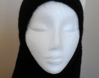 Ski Helmet  in Black alpaca