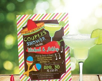 Fiesta Couples Shower Invitation - Personalized Printable DIGITAL FILE