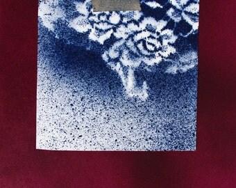 Alizarin Original Paper Painting