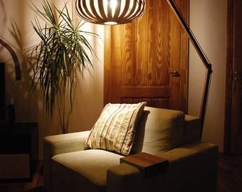 Floor lamp / Beautiful handmade, arch lamp, design lamp, veneer lamp, modern lamp, plywood lamp, wood lamp mahogany