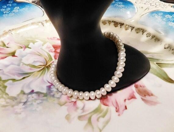 Genuine Pearl Bracelet 10K 10 K Gold White Strand Pearls Wedding Bride Bridal Vintage Spring Fine Jewelry Prom Formal Evening Elegant Pearls