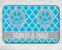 Custom Pet Mat - Pet Mat - Dog Food Mat - Pet Placemat - Personalized Pet Mat - Personalized Dog Mat - Cat Food Mat - Quatrefoil Food Mat