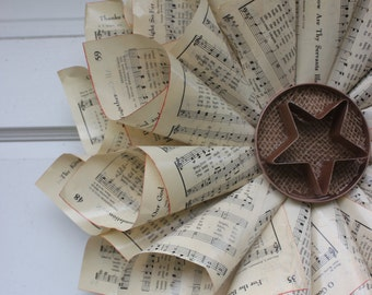 Upcycled Music Paper or Book Page Wreath