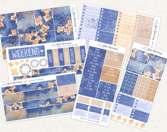 Autumn Midnight Planner Sticker Kit 6 Sheets - For Erin Condren Vertical, Happy Planner