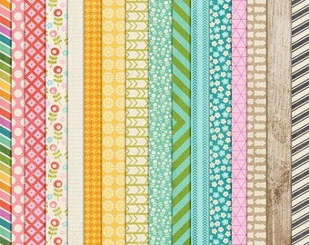 Today's the Day - Everyday Digital Papers - 12 x 12 - Scrapbooking Pack