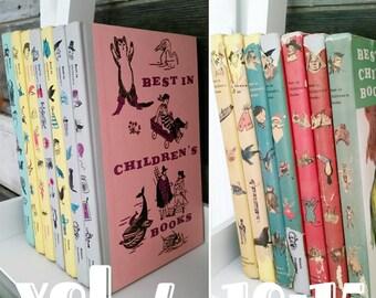 Vintage Best In Childrens Books, Nelson Doubleday, Vol 4 10 11 12 13 14 15, Dust Jacket