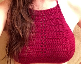 Delilah Crochet Halter Top