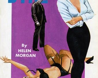 Lesbian pulp vintage art print—Killer Dyke