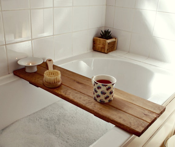 Bath tray reclaimed wood tray bathroom decor bath caddy for Bathroom tray