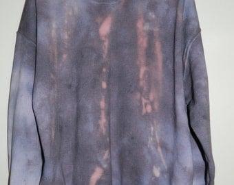 Unique Tie Dye sweatshirt acid wash sweater grunge hipster Retro jumper vintage punk dip dye Indie Galaxy rave festival men women unisex top