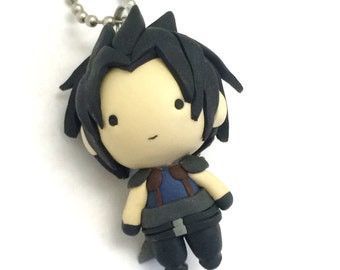 Kawaii Black Haired Sword Chibi Clay Charm