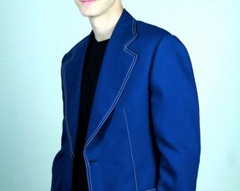 Vintage Preppy Royal Blue Blazer/Sport Coat