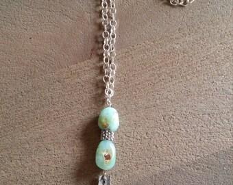 Minty Arrow Necklace (#26)