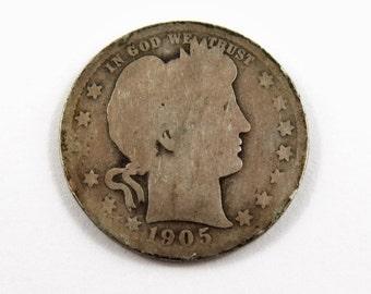 U.S. 1905 O Barber Quarter.