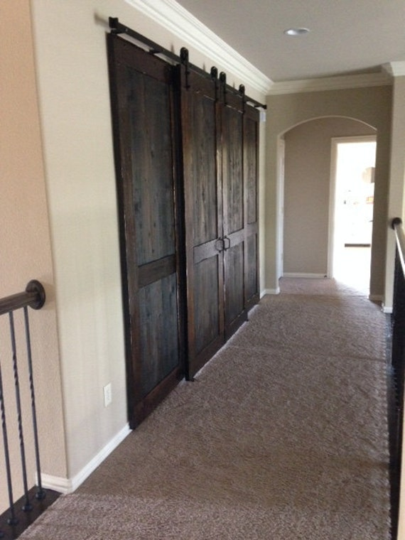 Double Sided Sliding Barn Doors
