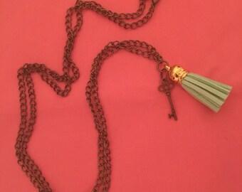 Tassel key necklace