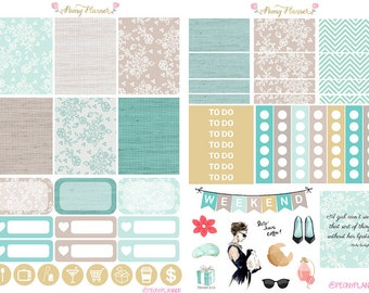 Breakfast at Tiffany Weekly Planner Sticker Kit for use with ERIN CONDREN LIFEPLANNER™, Happy Planner, Travelers Notebook etc