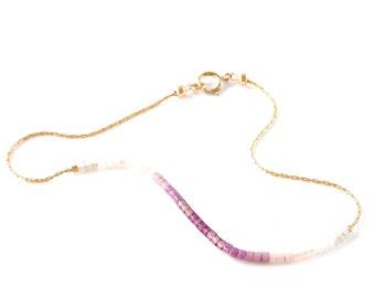 dainty jewelry tiny seed bead bracelet dainty chain bracelet bead layering bracelet gold chain bracelet