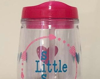 Monogrammed  little Sister Tumbler Cup, Personalized Gift, Little Sister Gift, Little Sister, Little Sis, Sissy gift,