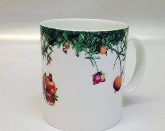 Pomegranate Mug Set Of 4