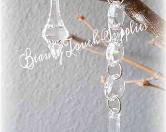 5Pcs Acrylic Crystal Garland Chandelier Hanging
