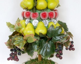 Pear, Grape and Plum Topiary