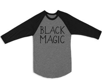 Black Magic Raglan 3/4 Sleeve Tee