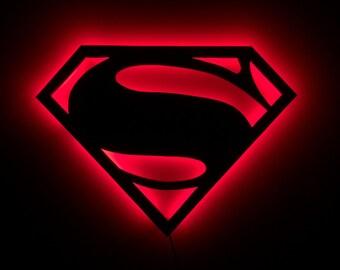 LED Superman Sign