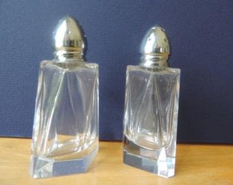 Crystal Salt and Pepper Shakers Vintage