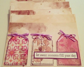 """Handmade """"Let Sweet Moments Fill Your Day"""" Greeting Card"""