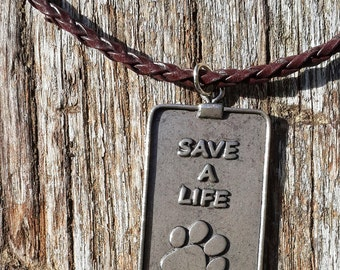 Dog Tag Necklace - Save a Life