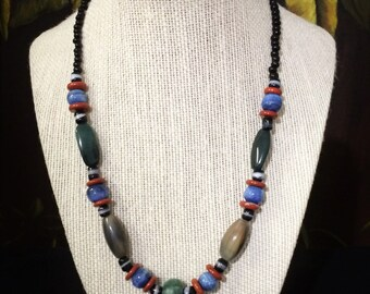 18'' Colorful Trade Bead Necklace.