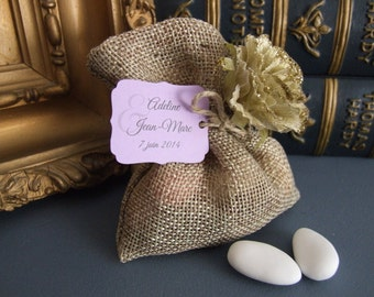 10 medium-sized Baroque custom labels, for gifts of baptism and marriage