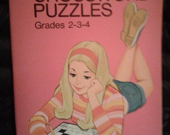 Vintage 1970's Whitman BARBIE Crossword Puzzle Book! Unused Condition!