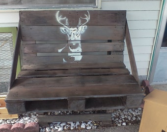 Pallet Benches, Deer Benches, Painted Benches, Benches, Homemade Benches, Farmhouse Decor, Rustic Decor