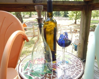 Lignum Vitae Wood Bottle Stopper with Removable Stainless Stopper