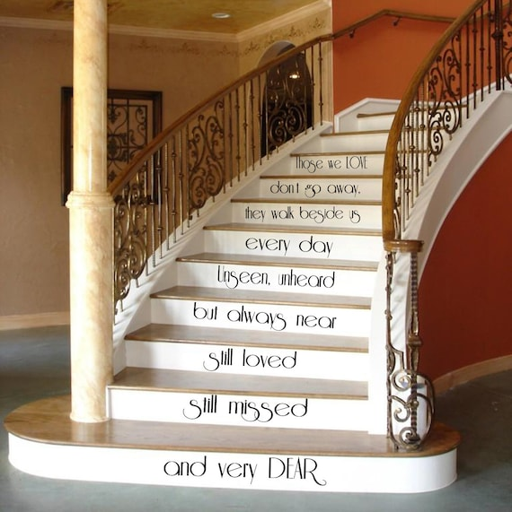 family wall decal quote love art mural stair by amazingdecalsart. Black Bedroom Furniture Sets. Home Design Ideas