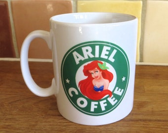 Disney Princess Ariel Little Mermaid Starbucks Inspired Coffee Mug 10oz