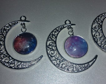 Moon and Galaxy Necklaces