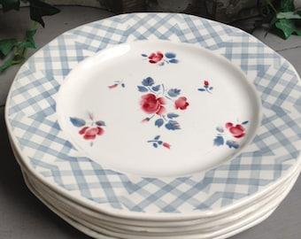 6 dinner plates Digoin Sarreguemines
