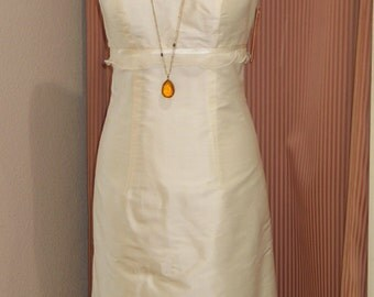 Short wedding dress made of silk doupion, many colors