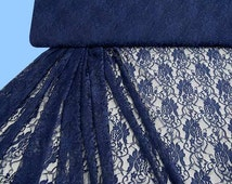 Patterned lace dark blue (506921)