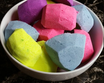 Bath bombs, Gem stone bath bombs, gem bath fizzies