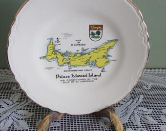 VINTAGE plate Island Prince Edward Canada Souvenir / MID-CENTURY Plate Of Prince Edward Island, Canada