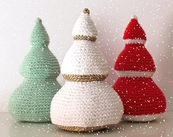 Christmas Trees - Christmas Patterns. Amigurumi PDF, Decorative Art, Cute Gift, Easy Crochet, Home Decor, DIY, Winter Crafts, Download File