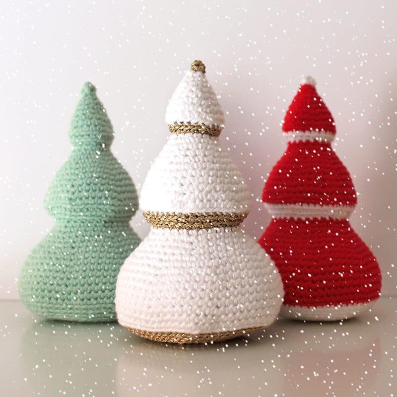 Easy Christmas Amigurumi : Christmas trees patterns amigurumi pdf